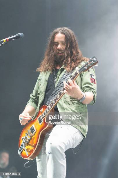 Joe Hottinger of Halestorm performs on stage at The SSE Hydro on November 24, 2019 in Glasgow, Scotland.