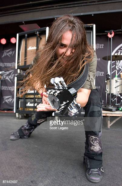 Joe Hottinger performs during the 2009 Rock On The Range festival at Columbus Crew Stadium on May 16 2009 in Columbus Ohio