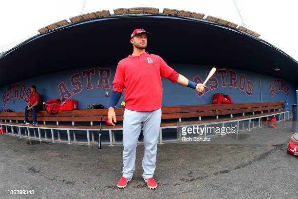 Joe Hudson of the St Louis Cardinals before a spring training baseball game against the Washington Nationals at Fitteam Ballpark of the Palm Beaches...