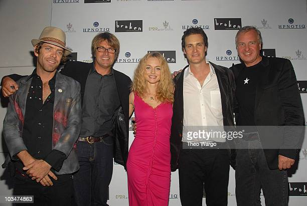 Joe Hursley director Allan White Heather Graham Randall Batinkoff and Producer Jerry Wayne attend the 'Broken' New York City Premiere afterparty at...