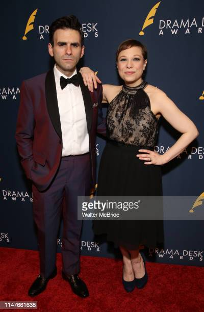 Joe Iconis and Lauren Marcus attend the 2019 Drama Desk Awards at Steinway Hall on June 2, 2019 in New York City.