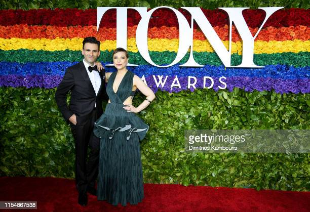 Joe Iconis and Lauren Marcus attend the 73rd Annual Tony Awards at Radio City Music Hall on June 09 2019 in New York City