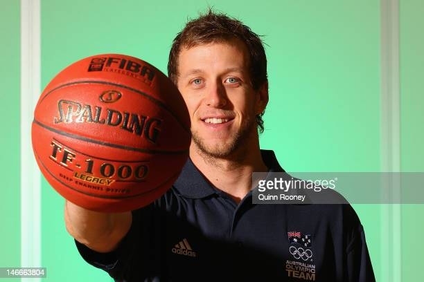Joe Ingles of Australia poses during the Australian Olympic Games team announcement at Knox Basketball Stadium on June 22 2012 in Melbourne Australia