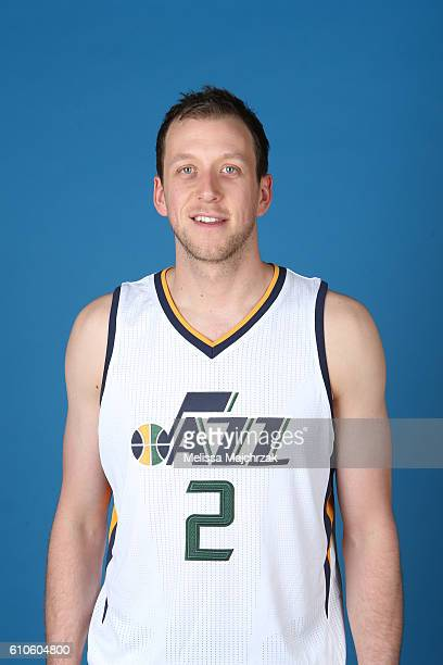 Joe Ingles of the Utah Jazz poses for a headshot during 20162017 Utah Jazz Media Day at Zions Bank Basketball Center on September 26 2016 in Salt...