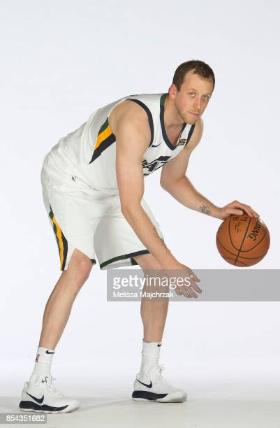 Joe Ingles of the Utah Jazz poses for a photo during media day at Zions Bank Basketball Center on September 25 2017 in Salt Lake City Utah NOTE TO...