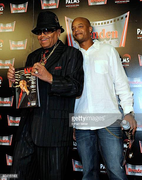 Joe Jackson and actor Todd Bridges appear during the unveiling of a celebrity star honoring Jackson and the Jackson family prior to a screening of...