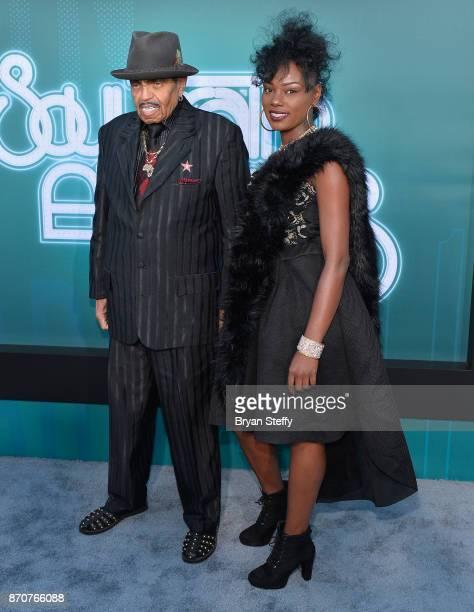 Joe Jackson and Jasmine Jones attends the 2017 Soul Train Music Awards at the Orleans Arena on November 5, 2017 in Las Vegas, Nevada.
