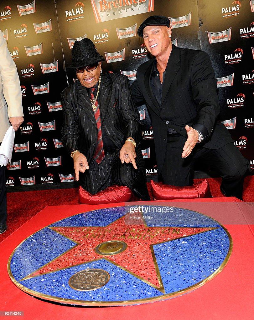 Johnny Brenden Presents Celebrity Star To Joe Jackson : News Photo