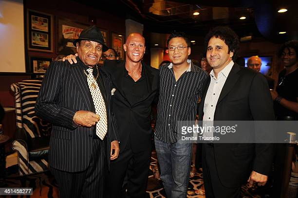Joe Jackson Johnny Brenden Rutt and George Maloof attend the Brenden Celebrity Suites at The Palms Casino Resort on August 29 2009 in Las Vegas Nevada