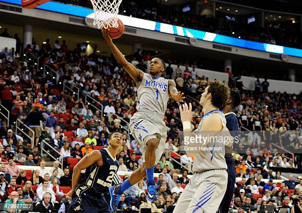 Joe Jackson of the Memphis Tigers shoots against the George Washington Colonials in the second half during the Second Round of the 2014 NCAA...