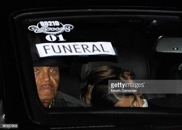 Joe Jackson Prince Michael and Prince Michael II arrive at Michael Jackson's funeral service held at Glendale Forest Lawn Memorial Park on September...