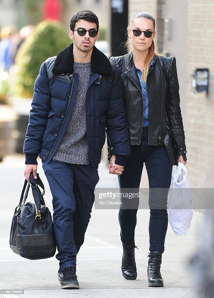 Joe Jonas and Blanda Eggenschwiler are seen in the Meat Packing District on October 28, 2013 in New York City.