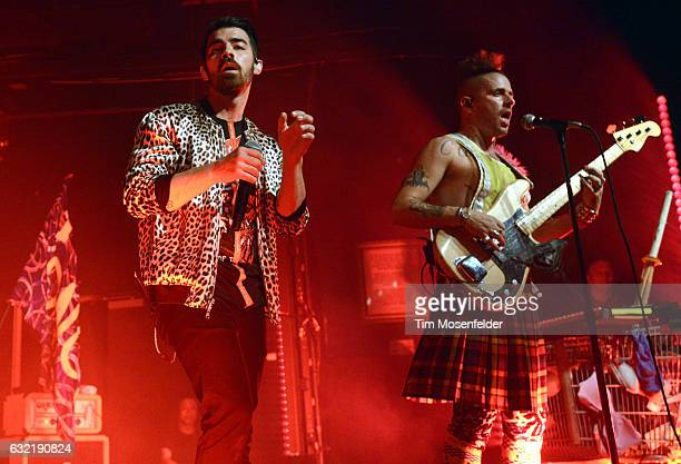 Joe Jonas and Cole Whittle of DNCE perform in support of the band's self titled release at Ace of Spades on January 19 2017 in Sacramento California
