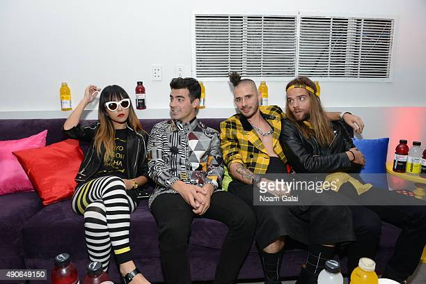 """Joe Jonas and DNCE band members attend """"HYDRATE THE HUSTLE"""" for the fifth anniversary of vitaminwater and The Fader #uncapped Concert Series on..."""