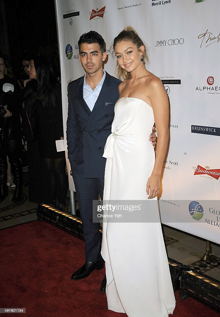 Joe Jonas and Gigi Hadid attends 2015 Global Lyme Alliance Gala at Cipriani 42nd Street on October 8, 2015 in New York City.