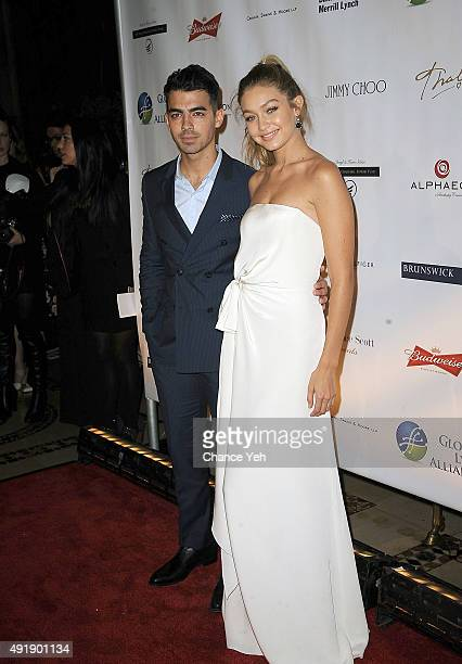 Joe Jonas and Gigi Hadid attends 2015 Global Lyme Alliance Gala at Cipriani 42nd Street on October 8 2015 in New York City