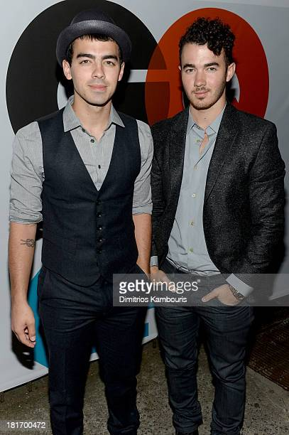 Joe Jonas and Kevin Jonas attend the GQ Gap event to celebrate 2013 Best New Menswear Designers Collaboration on September 23 2013 in New York City