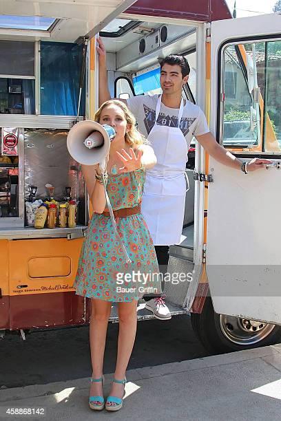 Joe Jonas and Meaghan Martin are seen on May 19 2012 in Los Angeles California