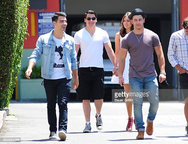 Joe Jonas and Nick Jonas are seen on June 13 2014 in Los Angeles California