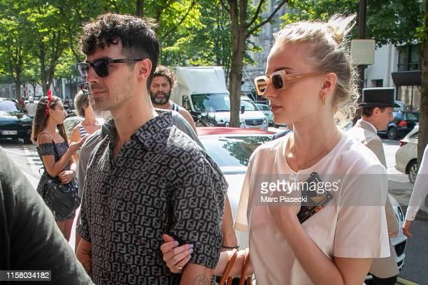 Joe Jonas and Sophie Turner are seen on June 24 2019 in Paris France