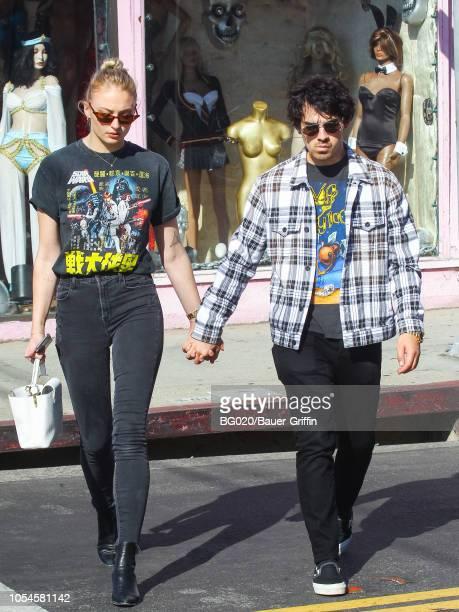 Joe Jonas and Sophie Turner are seen on October 27 2018 in Los Angeles California