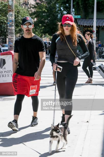Joe Jonas and Sophie Turner are seen on September 8 2017 in New York City