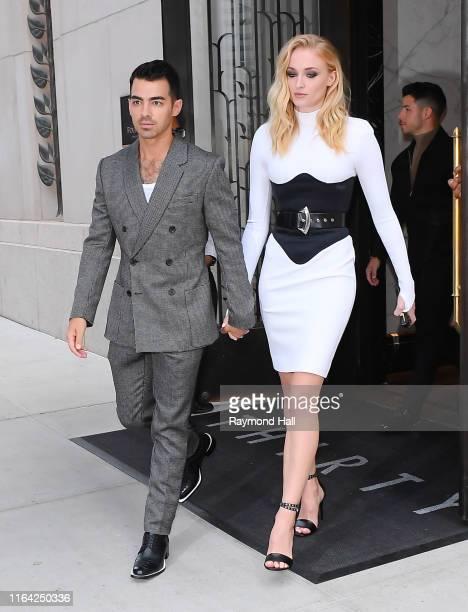 Joe Jonas and Sophie Turner are seen walking in SoHo on August 26 2019 in New York City