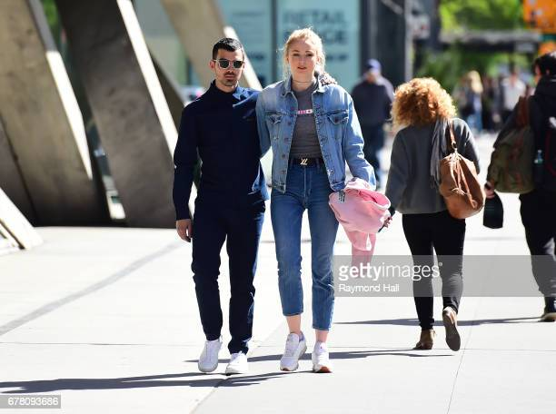 Joe Jonas and Sophie Turner are seen walking in Soho on May 3 2017 in New York City