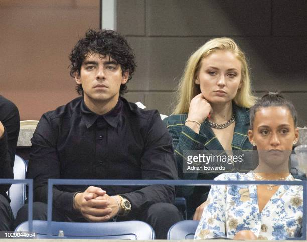 Joe Jonas and Sophie Turner at Day 5 of the US Open held at the USTA Tennis Center in Flushing Meadows Corona Park on August 31 2018 in New York City