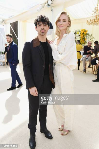 Joe Jonas and Sophie Turner attend 2019 Roc Nation THE BRUNCH on February 9 2019 in Los Angeles California