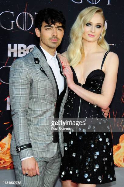 Joe Jonas and Sophie Turner attend Game Of Thrones New York Premiere at Radio City Music Hall NYC on April 3 2019 in New York City