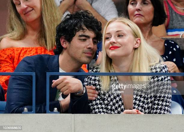 Joe Jonas and Sophie Turner attend the 2018 US Open on September 3 2018 in New York City