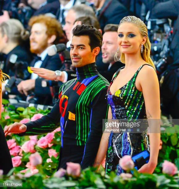 Joe Jonas and Sophie Turner attend The 2019 Met Gala Celebrating Camp: Notes on Fashion at Metropolitan Museum of Art at on May 6, 2019 in New York...