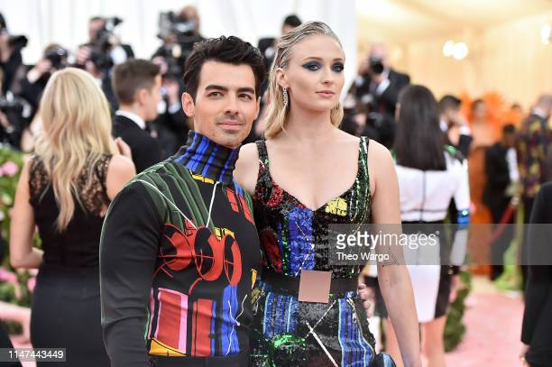 Joe Jonas and Sophie Turner attend The 2019 Met Gala Celebrating Camp: Notes on Fashion at Metropolitan Museum of Art on May 06, 2019 in New York...