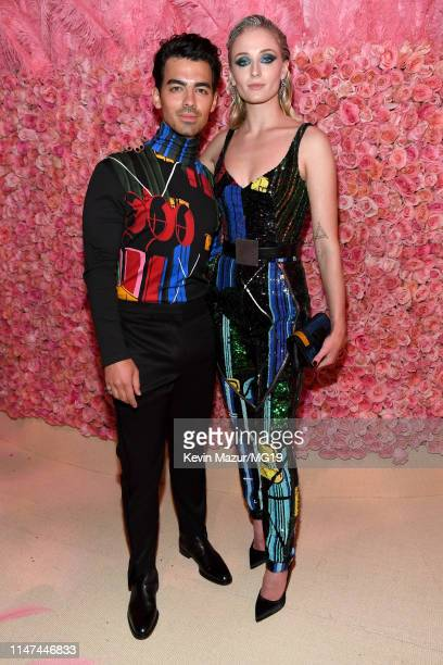 Joe Jonas and Sophie Turner attend The 2019 Met Gala Celebrating Camp Notes on Fashion at Metropolitan Museum of Art on May 06 2019 in New York City