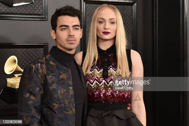 Joe Jonas and Sophie Turner attend the 62nd Annual Grammy Awards at Staples Center on January 26 2020 in Los Angeles CA