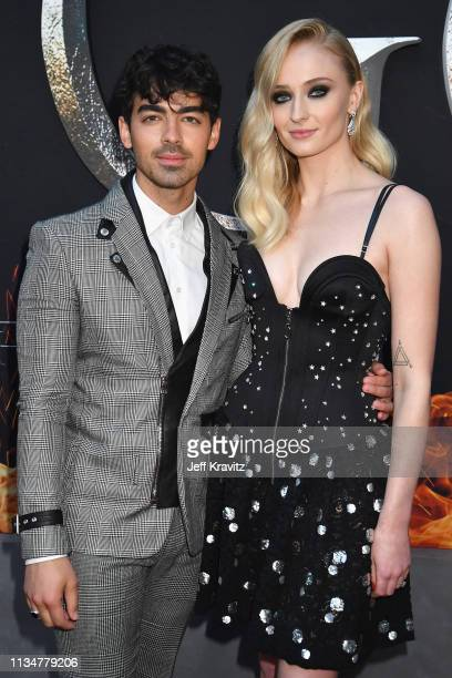 Joe Jonas and Sophie Turner attend the Game Of Thrones Season 8 NY Premiere on April 3 2019 in New York City