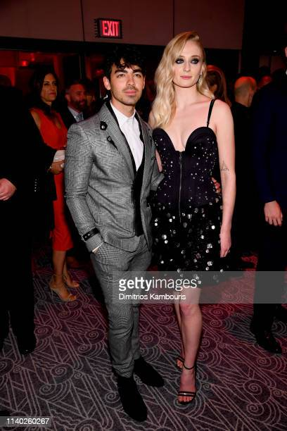 Joe Jonas and Sophie Turner attend the Game Of Thrones Season 8 Premiere After Party on April 03 2019 in New York City