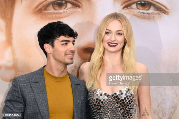 Joe Jonas and Sophie Turner attend the Premiere of Amazon Prime Video's 'Chasing Happiness' at Regency Bruin Theatre on June 03 2019 in Los Angeles...