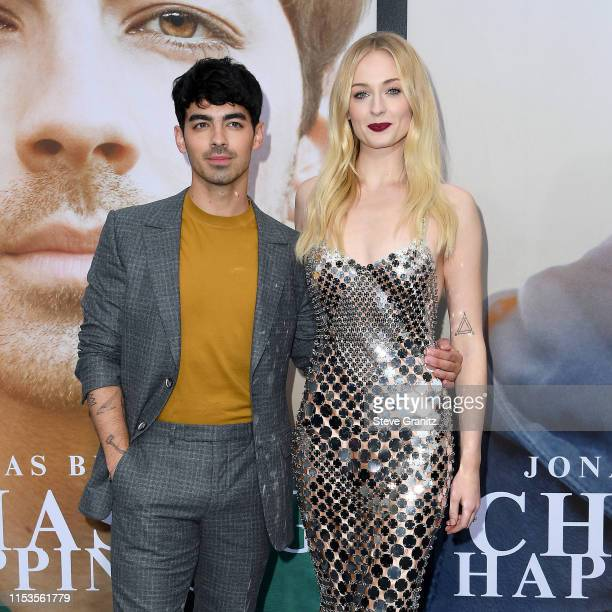 Joe Jonas and Sophie Turner attend the Premiere of Amazon Prime Video's 'Chasing Happiness' at Regency Bruin Theatre on June 03, 2019 in Los Angeles,...