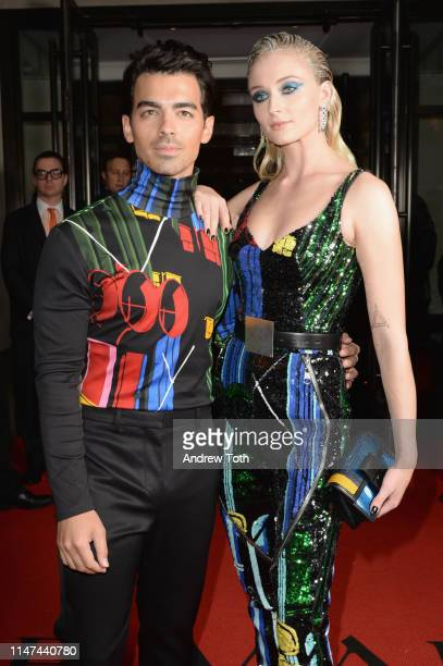 Joe Jonas and Sophie Turner depart The Mark Hotel for the 2019 'Camp Notes on Fashion' Met Gala on May 06 2019 in New York City