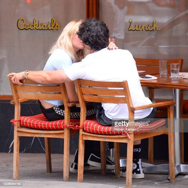 Joe Jonas and Sophie Turner seen kissing at a restaurant in Manhattan on July 31 2018 in New York City