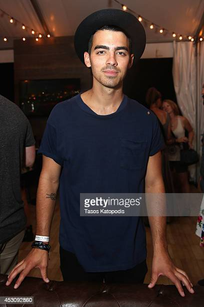 Joe Jonas at the Samsung Galaxy Artist's Lounge at Lollapalooza at Grant Park on August 2 2014 in Chicago Illinois