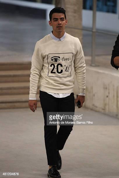 Joe Jonas attends Carven show as part of the Paris Fashion Week Menswear Spring/Summer 2015 on June 25 2014 in Paris France