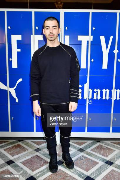 Joe Jonas attends FENTY PUMA by Rihanna Fall / Winter 2017 Collection at Bibliotheque Nationale de France on March 6 2017 in Paris France
