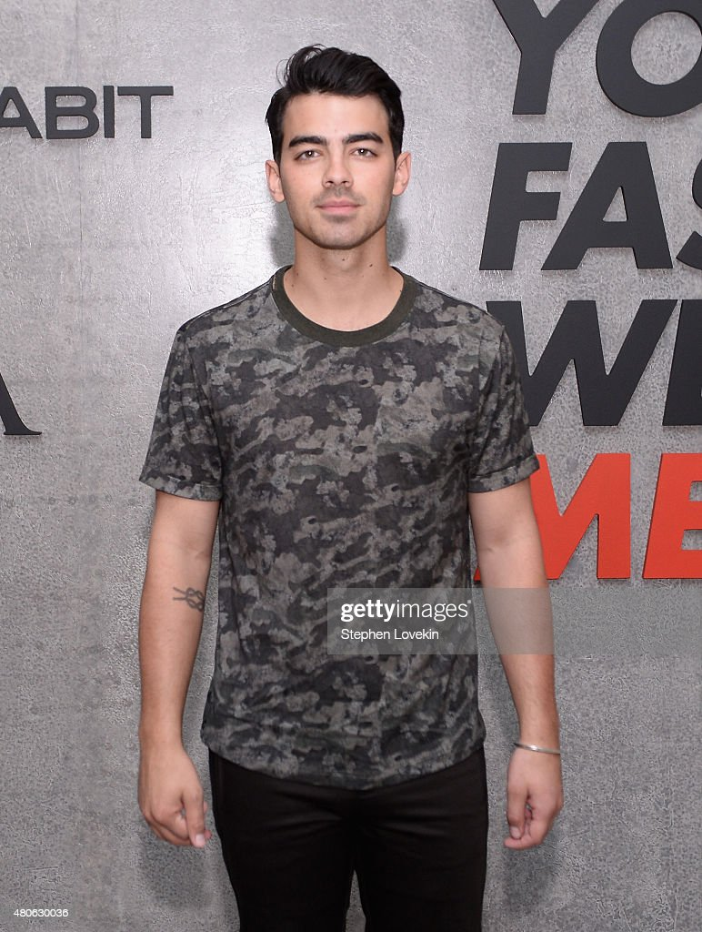 Joe Jonas attends New York Men's Fashion Week kick off party hosted by Amazon Fashion and CFDA at Amazon Imaging Studio on July 13, 2015 in Brooklyn, New York.