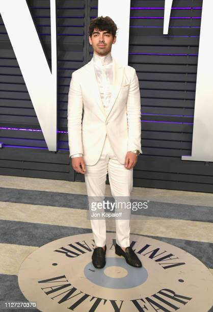 Joe Jonas attends the 2019 Vanity Fair Oscar Party hosted by Radhika Jones at Wallis Annenberg Center for the Performing Arts on February 24 2019 in...