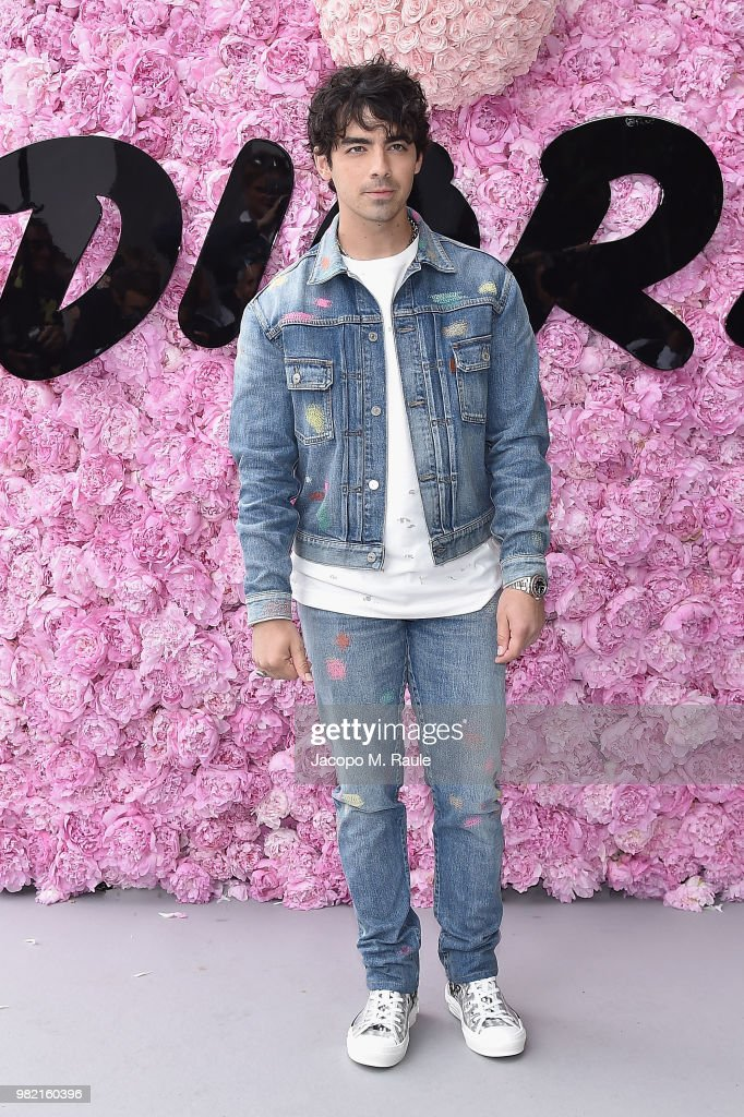 Joe Jonas attends the Dior Homme Menswear Spring/Summer 2019 show as part of Paris Fashion Week on June 23, 2018 in Paris, France.