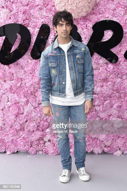 Joe Jonas attends the Dior Homme Menswear Spring/Summer 2019 show as part of Paris Fashion Week on June 23 2018 in Paris France
