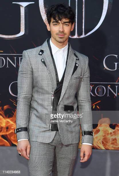 Joe Jonas attends the Game Of Thrones Season 8 Premiere on April 03 2019 in New York City